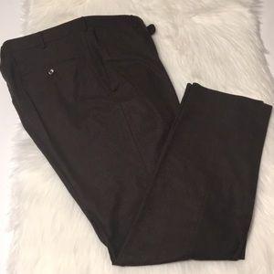 Ermenegildo Zegna brown wool blend pants Size 40